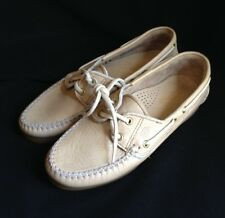 Dexter Boat Shoes Loafer Size 8 M  Beige #359193 Leather Upper Made in the USA