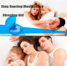 New Moldable Stop Snoring Mouthpiece Anti Snore Apnea Cure No Snore Sleeping Aid
