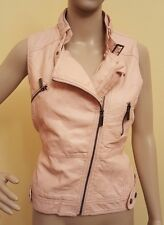 Pink Faux Leather Vest by Vanity Womens Large New NWT Blush Punk Rock Biker Girl