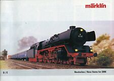 MÄRKLIN-Prospekt/MARKLIN-brochure: Neuheiten/New Items for 2006: 71 Seiten/pages