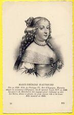 cpa Gravure REINE QUEEN of FRANCE Marie Thérèse d'AUTRICHE ROI d'ESPAGNE Royalty