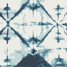 Art Gallery ~ Observer Indigo Window Crystal Fabric / dressmaking blue shibori