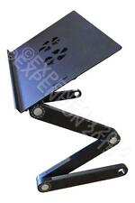 Adjustable Folding Laptop or Notebook Desk / Stand - Dual USB Fan Cooled -BLACK