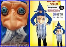 MAD HATTER Wizard COSTUME Halloween Fancy Dress Child Height 140cm Chest 73cm