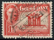 Gold Coast 1948 SG#137, 1.5d Scarlet KGVI Used #D17352