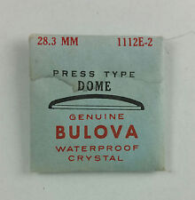 VINTAGE BULOVA PRESS TYPE DOME WATCH CRYSTAL - 28.3mm - PART# 1112E-2