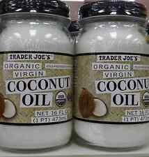 2 x Trader Joe's ORGANIC Coconut Oil 32 ounces Total. FREE Priority Shipping