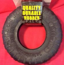 Dog Toy Tough Durable Rubber Tyre 7 Inch Black