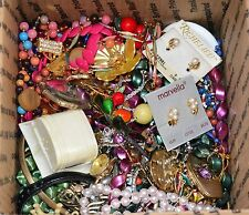 Vintage Costume Jewelry Lot For Repair, Wear 3 Lbs 5 oz