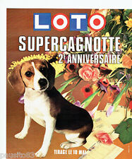 PUBLICITE ADVERTISING 036  1978  Loto  super cagnotte 2° anniversaire