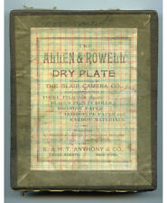 DRY PLATE BOX BY E.   H. T. ANTHONY 11 GLASS PLATE NEGATIVES CEMETERY/LAKE/HOME