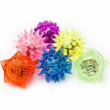 Fun Central AC809 LED Flashing Jelly Rings-Assorted Styles and Colors 24ct Light