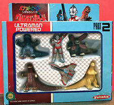 ULTRAMAN POWERED MINI FIGURE SET PART 2 1994 YUTAKA VS KAIJU JAPAN POCKET HERO