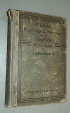 Fachbuch Paul SCHULTZ Kompendium der PHYSIOLOGIE des Menschen und der Säugetiere