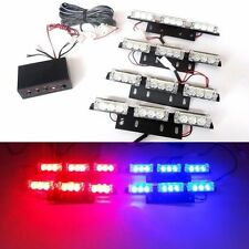 36 LED Red&Blue Car Flashing Emergency Grille Light 4 Bars Recovery Strobe in UK