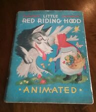 Little Red Riding Hood Animated Moving Book 1949 Duenewald Printing