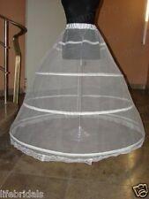 New white 3 hoop petticoat Crinoline Underskirt for bridal wedding dress Gown