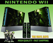 NINTENDO WII STICKER H R GIGER ALIEN HORROR DARK ACCESSORIES SKIN & 2 PAD SKINS