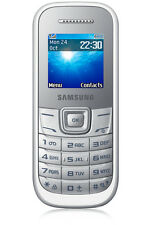 ►Samsung Guru E1200 White GSM Phone 1.5-inch TFT Screen & Alphanumeric Keypad►
