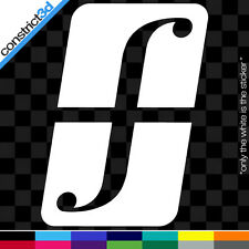 "(2x) FORUM 5"" VINYL DECALS  * ANY COLOR     snowboard snow shred snowboarding dc"