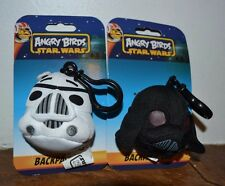 2 Angry Birds Star Wars Plush Backpack Clips Darth Vader & Storm Trooper