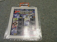 Stickers R/C radio Controlled 1/8 1/10 Team Orion Int graphic eyeball orange