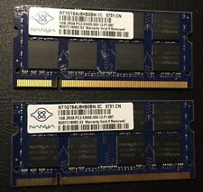 Nanya 2GB Kit (1GBx2) PC2-5300S DDR2-667 SO-DIMM Laptop RAM Memory
