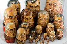 NobleSpirit 3970 Unique 25 Piece Matryoshka Soviet Leaders Nesting Doll Yeltsin