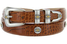 Golden Diamond - Italian Calfskin Genuine Leather Designer Dress Belt, 1-1/8""