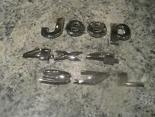 2005 - 08 Jeep Liberty CHROME Emblem Set 3.7L and 4x4 OEM Nice