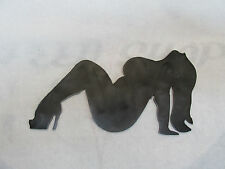 Thick Trucker Chick Lady Girl Mudflap Nude Naked Sexy Hot Rat Rod Motorcycle