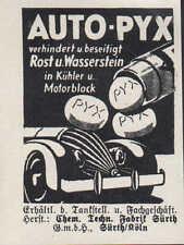 FÜRTH, Werbung 1939, Chemisch-technische Fabrik GmbH AUTO-PYX verhindert Rost
