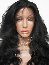 Looks like a Sew-In weave lace front wig, Kim Kardashian lace front wig long wig