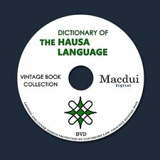 Dictionary of the Hausa language – 2 Vintage e-Books Collection on 1 DATA DVD