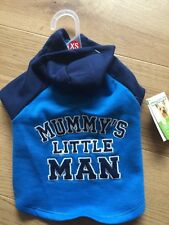 Dogs Jacket Top Coat Puppy X Small Too Cute Hoody Mummy's Little Man Rrp 12 Nwt