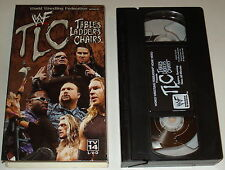 wwe wwf TLC: TABLES LADDERS and CHAIRS ~ 2000 vhs in box, non-rental