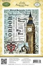 JUSTRITE CLING Stamps LONDON BACKGROUND STAMP CL-03765 Big Ben Piccadilly Queen