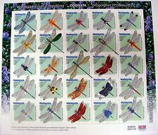 DRAGONFLY STAMPS SHEET FROM MALAYSIA SHEET OF 25