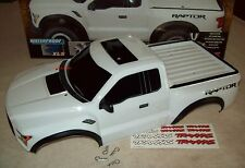 Traxxas Slash 2017 Raptor Body White 1/10 Pins Decals New Redesign Free Shipping