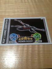 STAR WARS Force Awakens - Force Attax Trading Card #122 Poe's X-Wing Starfighter