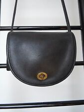 COACH BLACK  LEATHER SHOULDER X BODY BAG # 5106 MADE IN USA BEFORE STYLE NUMBERS