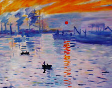 "Claude Monet  Repro  Oil Painting on canvas    - Levar Del Sole - size 36""x28"""