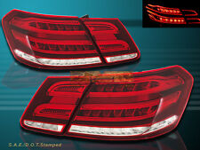 2010 11 12 2013 Mercedes Benz E-Class Sedan 4 Door Red Clear LED Tail lights