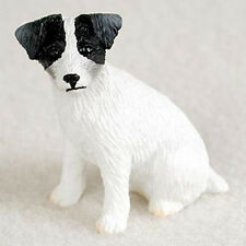 JACK RUSSELL TERRIER ROUGH BLACK TINY ONES DOG Figurine Statue Pet Lovers Resin