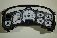 99-02 REMAN HD2500 GM TRUCK SPEEDOMETER WITH WHITE GAUGE FACE CLUSTER *EXCHANGE