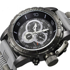 V6 Men Watch Special Fashion Military Sport Watch Quartz Analog Rubber Watches