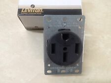 Leviton 3 Pole 4 Wire Grounding Power Outlet Flush Mount 279 Black