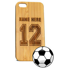 Soccer Jersey Case for iPhone 7 Plus Custom Bamboo Wood Cover Athlete Gift