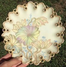 """Very Pretty T & V Limoges France Hand Painted 9"""" Plate"""