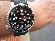 CITIZEN PROMASTER 200M AUTOMATIC LEFTY DIVER'S CHUNK  N,D.LIMITS STRAP NEAR MINT
